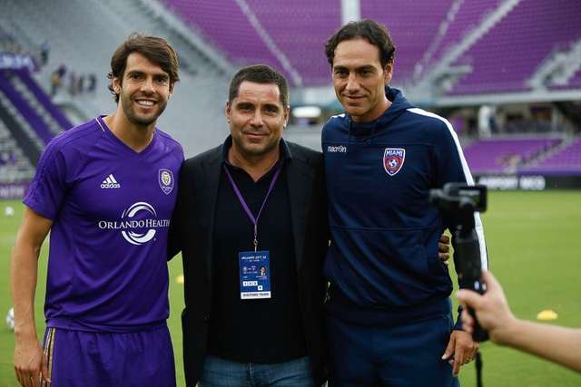 Kaka, Riccardo Silva and Alessandro Nesta