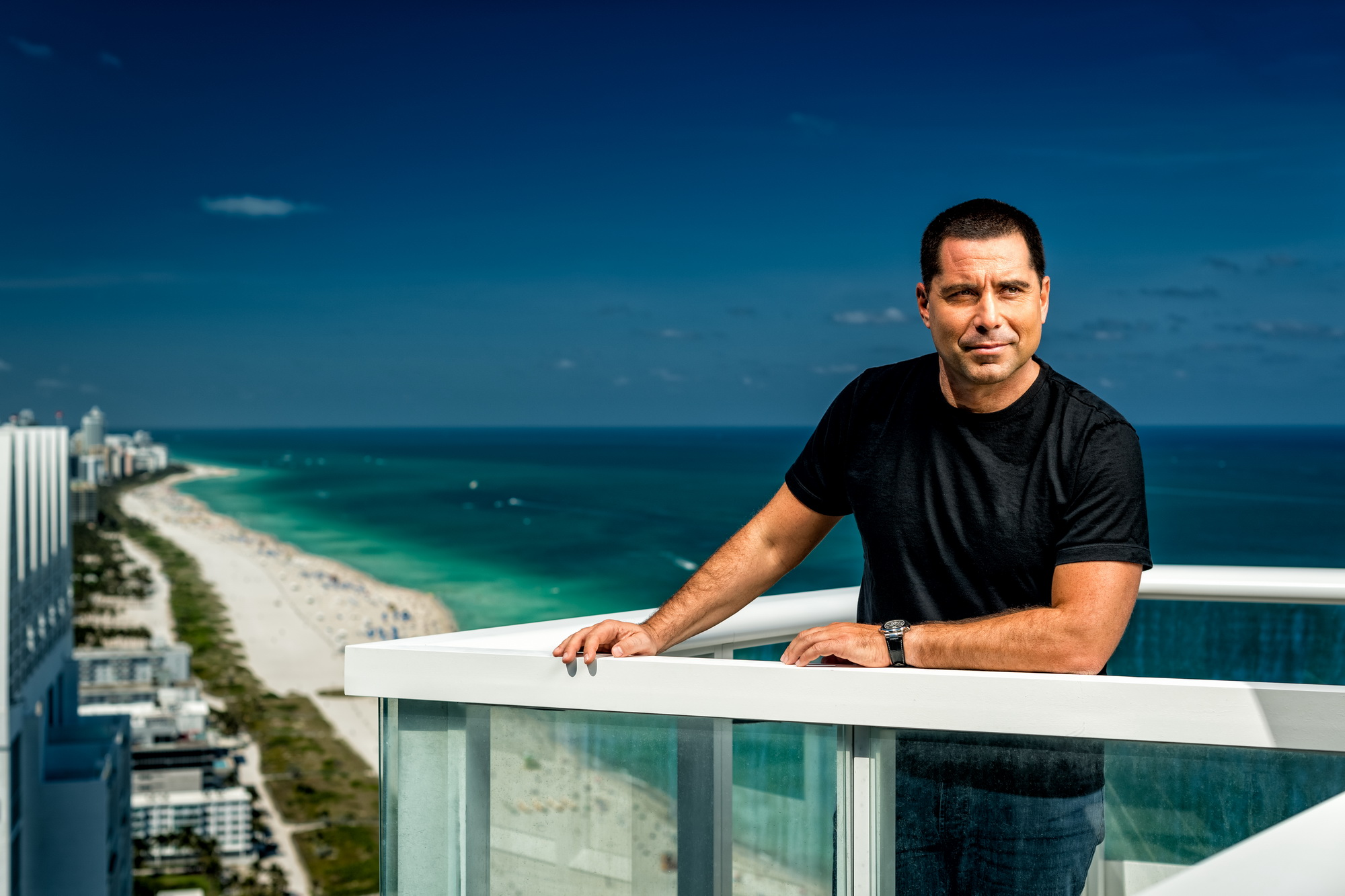 Riccardo Silva with a view of South Beach