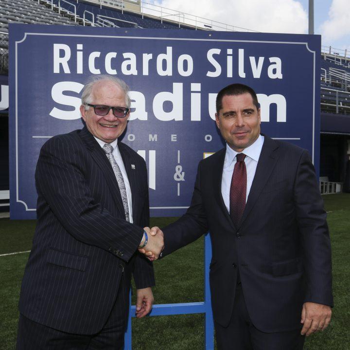 Riccardo Silva and Mark B. Rosenberg, FIU President