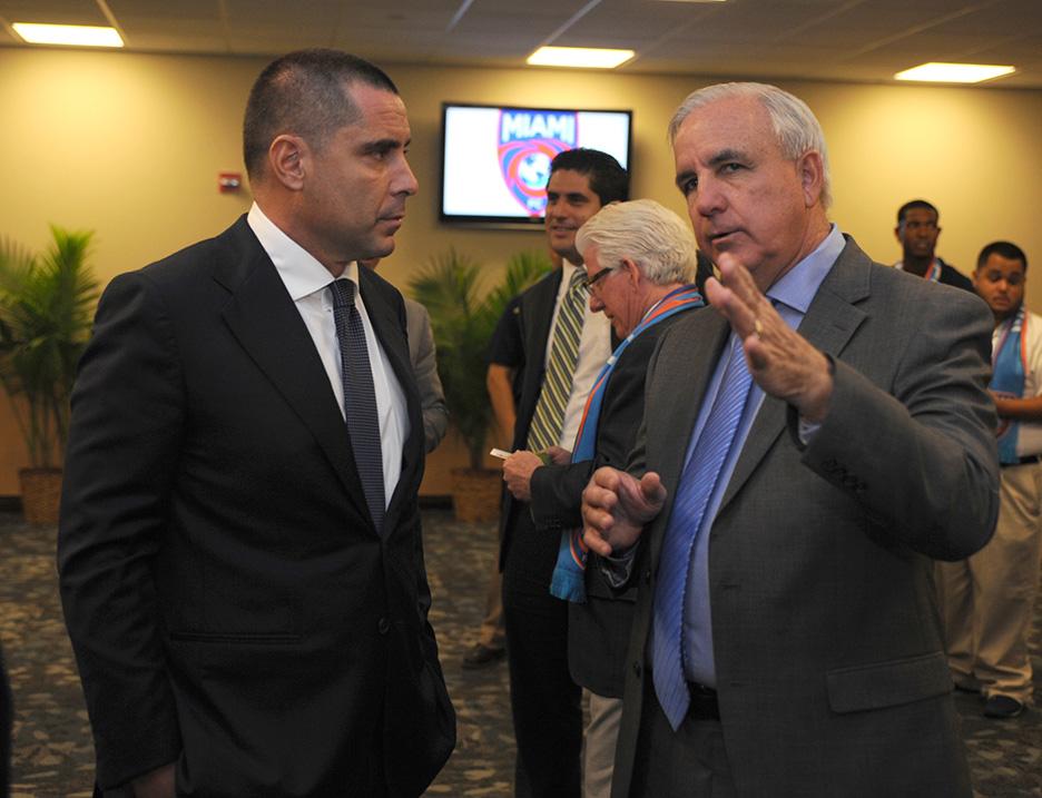 Riccardo Silva, Mayor Of Miami Carlos Gimenez