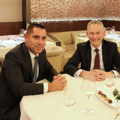 Riccardo Silva And Richard Scudamore, Chairman Of The English Premier League