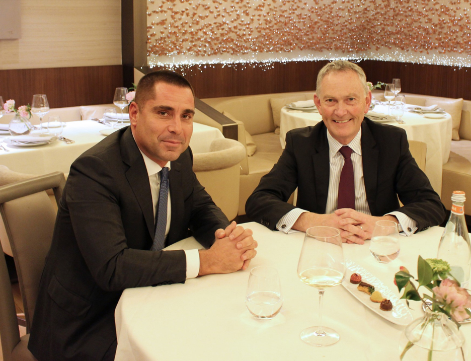 Riccardo Silva And Richard Scudamore, Chairman Of The English Premier League