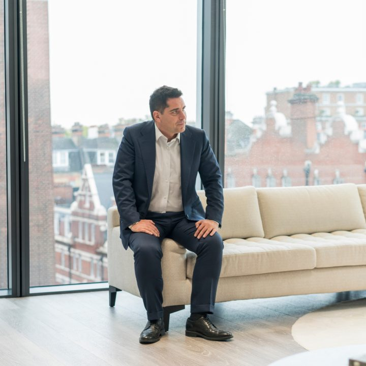 Riccardo Silva in his office at Silva International Investments' headquarters in London's Mayfair