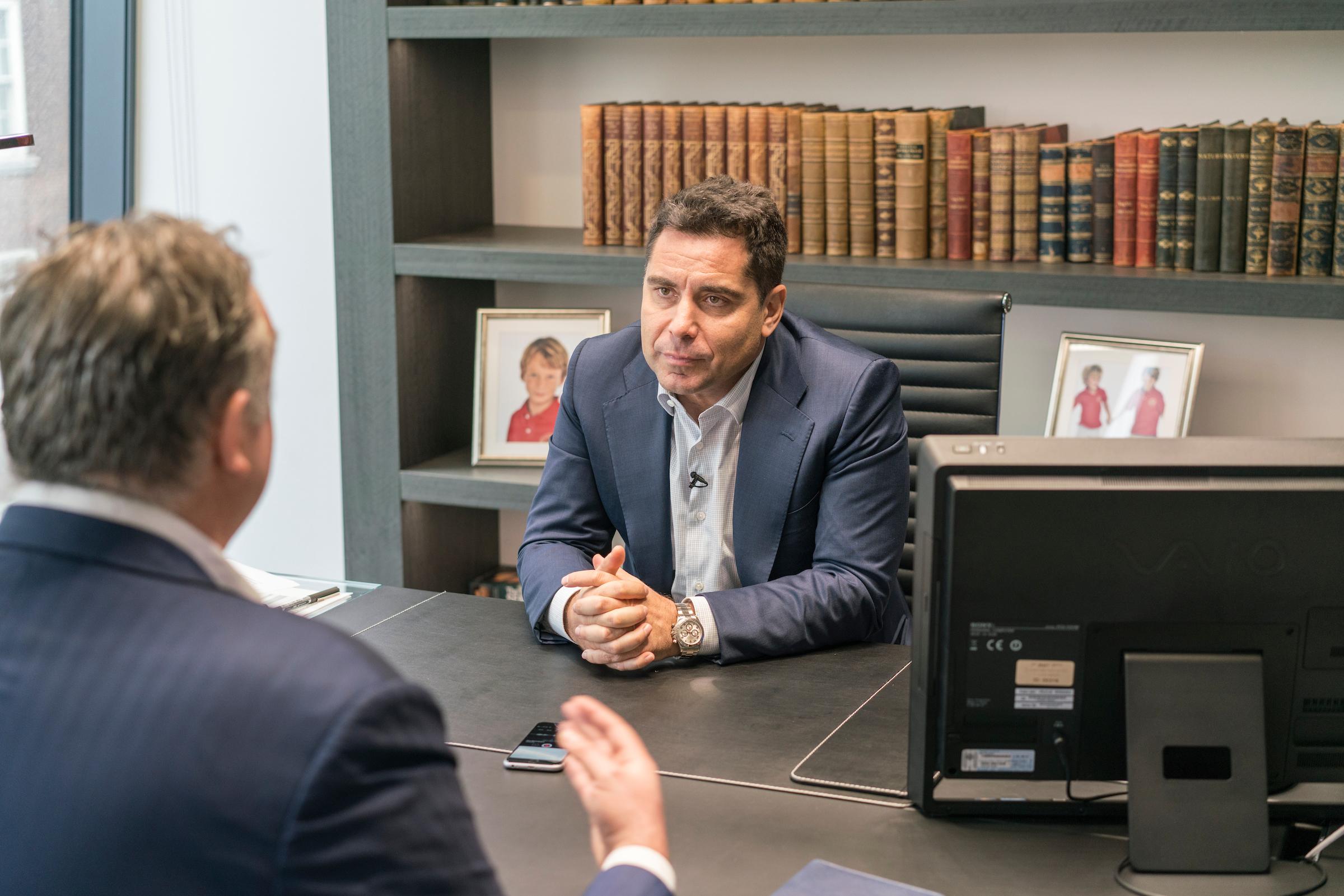 Riccardo Silva being interviewed by Gabriele Marcotti