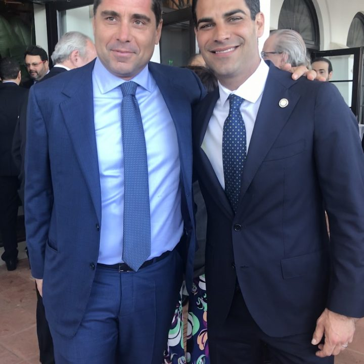 Riccardo Silva and Francis X Suarez, the Mayor of Miami