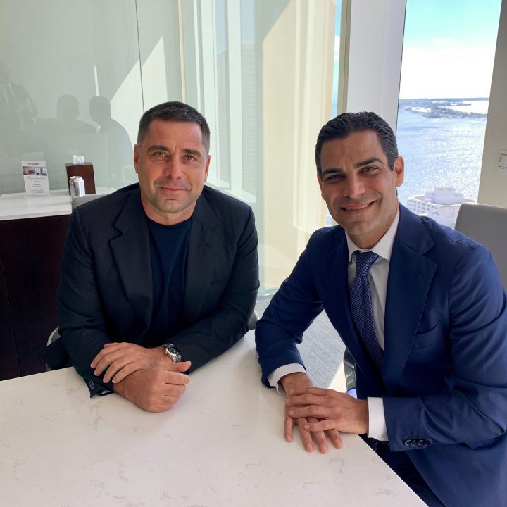 Riccardo Silva meets with Mayor of Miami Francis X. Suarez