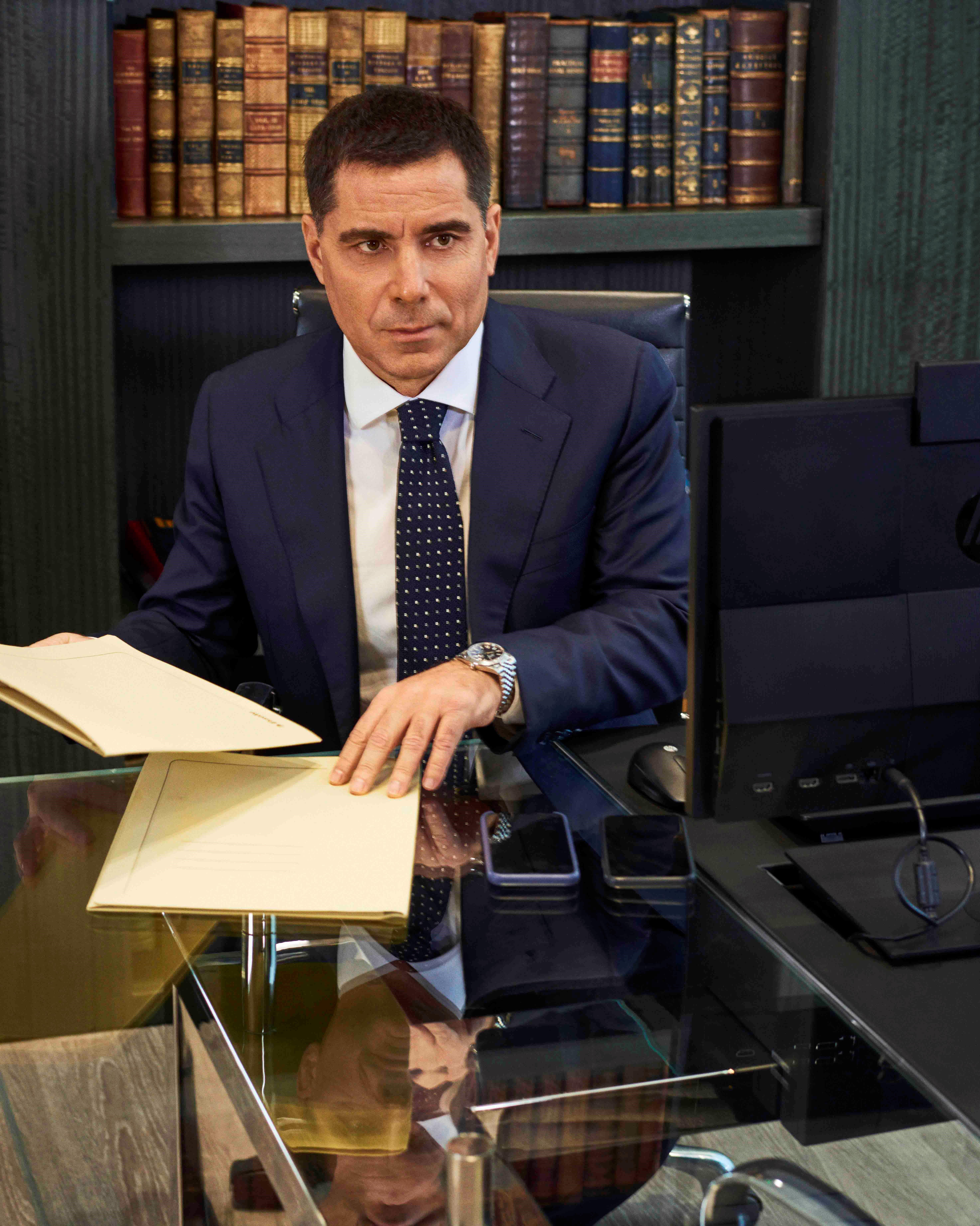 Riccardo Silva at the Silva International London office