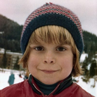 Riccardo Silva skiing as a boy