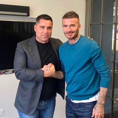 Riccardo Silva and David Beckham discussing the future of soccer in Miami