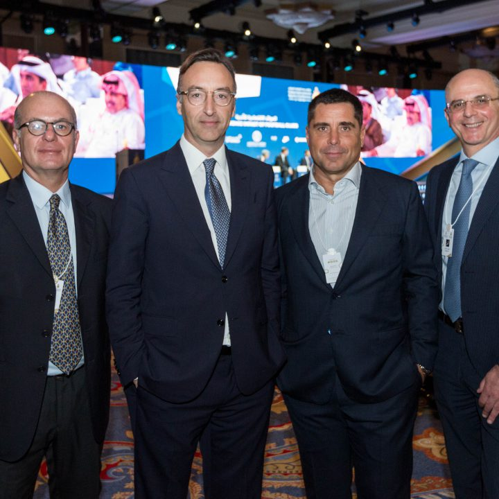 Umberto Gandini, CEO of Silva International Investments Marco Auletta, Riccardo Silva and Antonio D'addio at the Globe Soccer Awards 2019